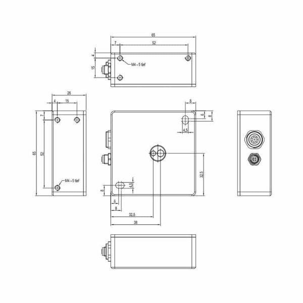 Technische tekening van de SPECTRO-3-JR series