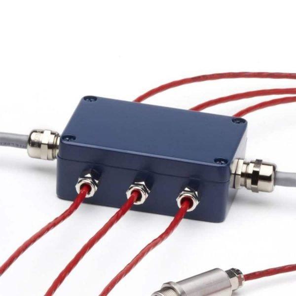 Junction box voor meerdere infrarood temperatuursensoren van de i-Tec serie