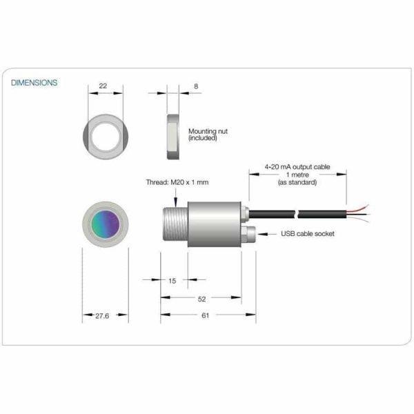 i-Tec USB serie technische tekening