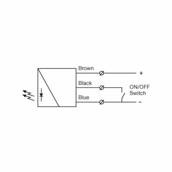 Het werkingsschema van de lichtschermen van SG2 serie van Telco Sensors