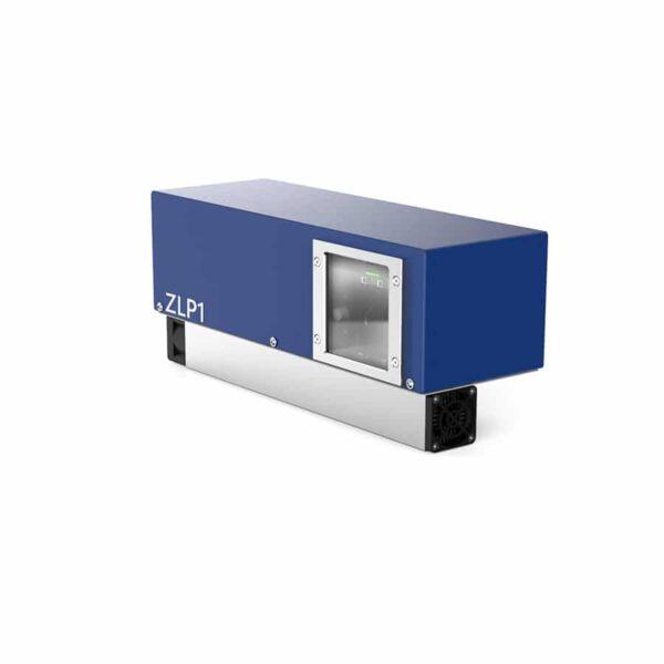 De voorkant van de ZLP1 laserprojector van Z-Laser