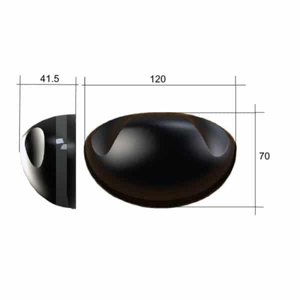 Hotron HR50-UNI deursensor afmetingen