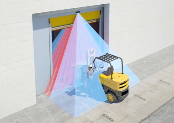 Toepassing van de Hotron HR400-IND bij industriële deur